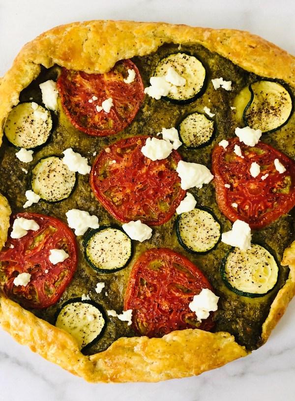 Summer Vegetable and Pesto Galette