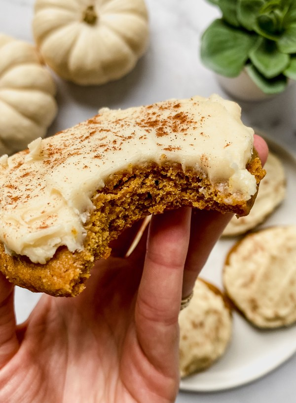 Pumpkin Spice Cookies with Cream Cheese Frosting