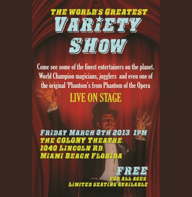 Variety Show At the colony Theatre