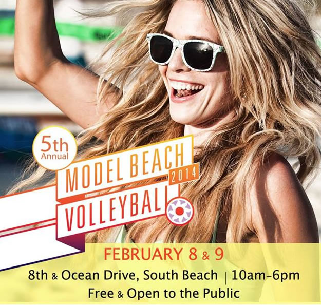 Model Beach VolleyBall on South Beach February 8-9, 2014