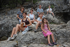 Family at Crystal Cave