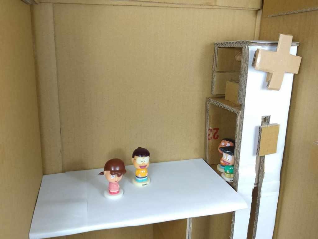 自製紙箱電梯