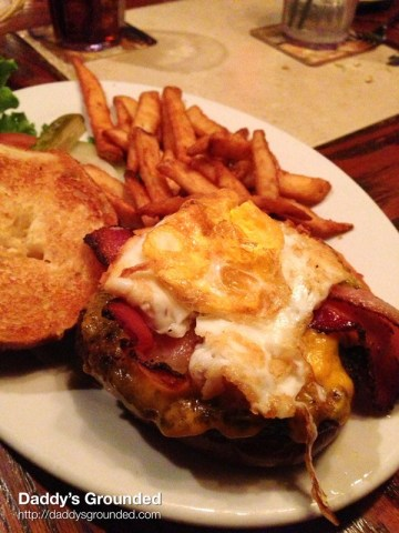 """The Matterhorn Burger"" at The Bavarian Lodge in Lisle, IL"