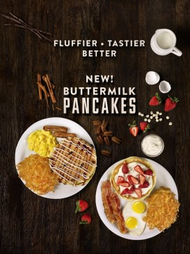New! Buttermilk Pancakes from Denny's. Fluffier - Tastier - Better.