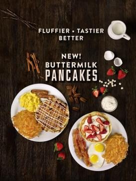 New! Buttermilk Pancakes from Denny's. Fluffier - Tastier - Better.