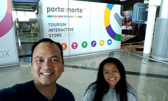 Outside the Tourism Office at Arrivals Hall - Porto