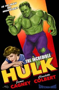 James Cagney & Claudette Colbert in The Incredible Hulk