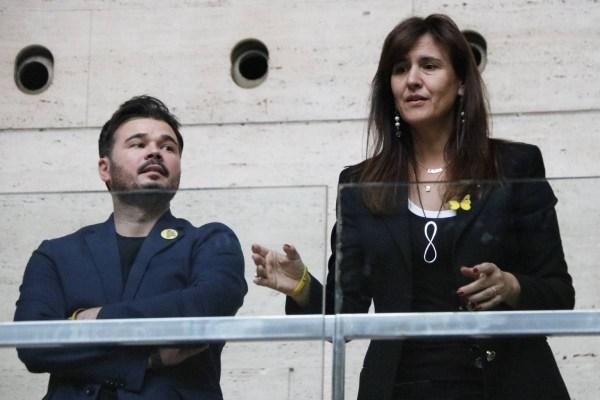 Gabriel Rufián i Laura Borràs, en una imatge d'arxiu.   ACN