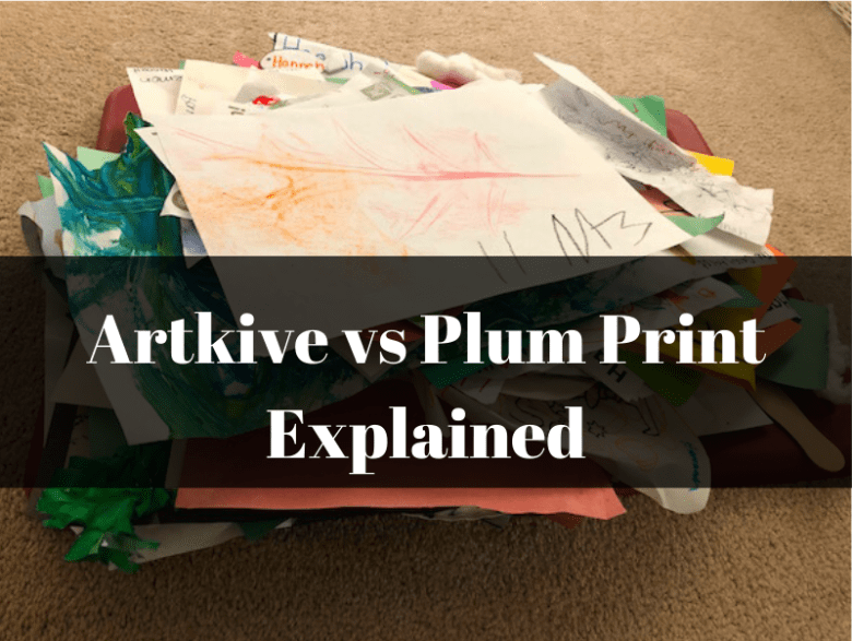 Pile of kids art for Plum Print vs Artkive