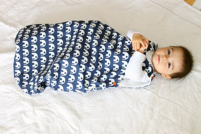 Baby sleeping in sleep sack