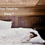 Image of a kid sleeping in bed - Too Tired to Sleep