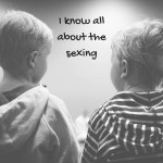 """Image of two boys talking with text """"I know all about the sexing"""""""