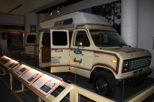 Image of the van that accompanied Terry Fox on his Marathon of Hope
