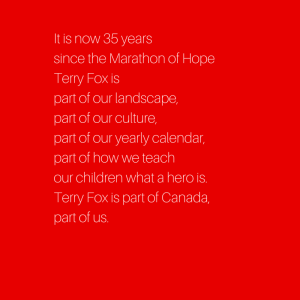 It is now 35 years since the Marathon of
