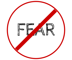 Image of a no fear sign