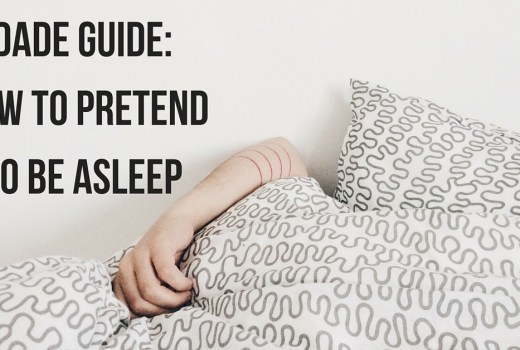 Dad Guide: How to Pretend to Sleep