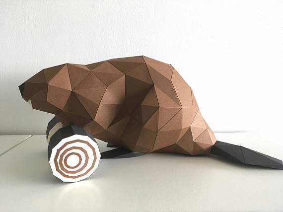 Low Poly Crafts - Paper Beaver