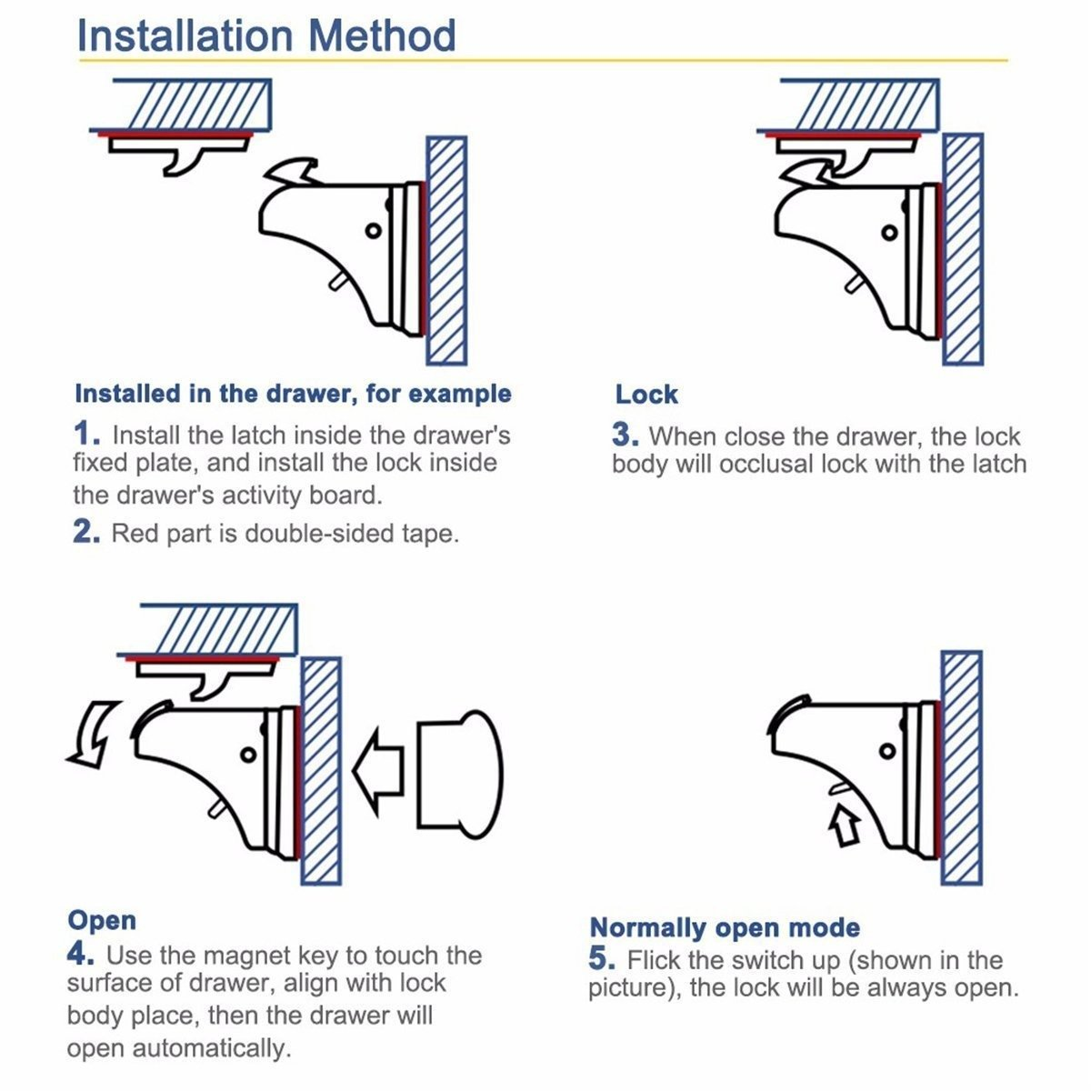 How to install a magnetic cabinet lock