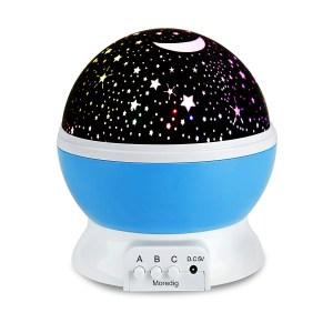 Night Light Projector, blue, stars and moon