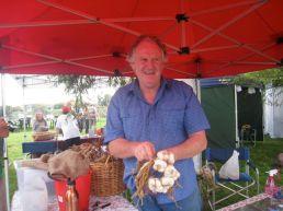Freddo grows organic garlic up the river