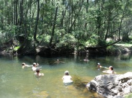 women's circle in the river