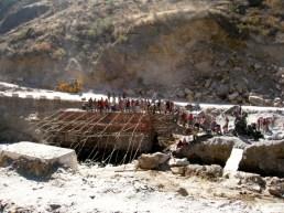 bridge building, Bhutan