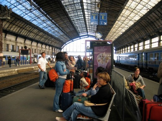 railway benches Bordeaux, France