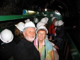 us in canal boat inside coal mine