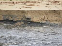 sand banks crumbling