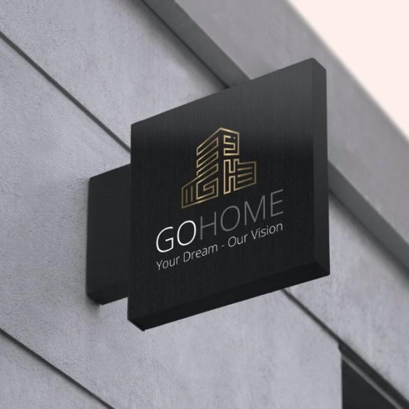 "GOHOME לוגו לחברת נדל""ן"