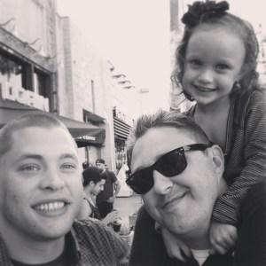 Adrian Travis and Ava in Santa Monica