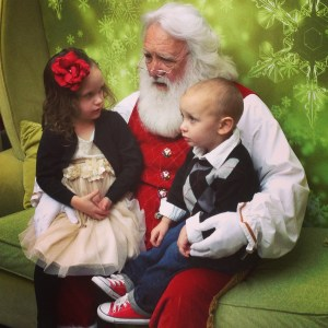 Ava and Charlie with Santa 2013