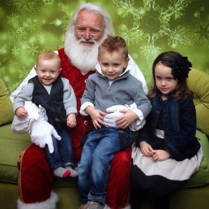 Kids with Santa 2014
