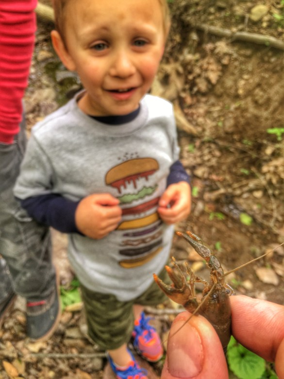 Charlie and the crayfish