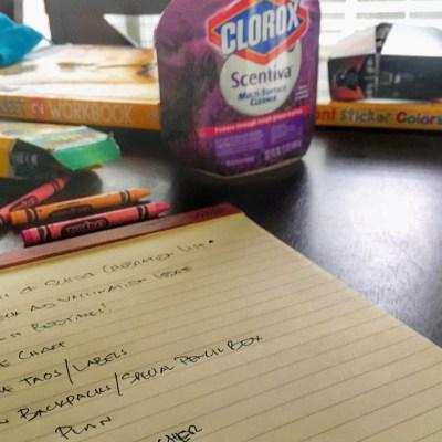 Start of School Celebration Checklist.