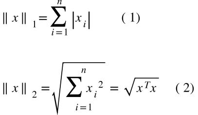 As normas mais conhecidas são a de Manhattan e a Euclidiana