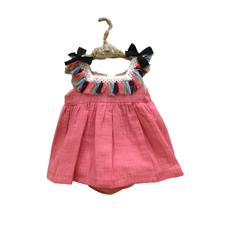 16ad0a7d1 Mon Petit Bonbon Jesusito coral con flecos - Dados moda infantil