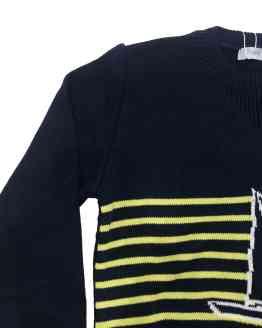 Foque jersey niño azul marino rayas Colección Nápoles