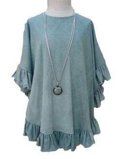 Bamboline Vestido poncho con collar Moraira