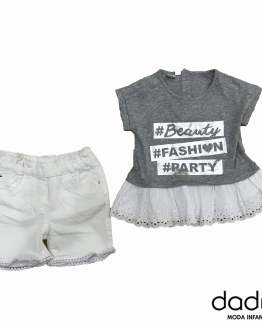 IDO Conjunto niña short y camiseta fashion