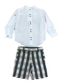 Outlet Tutto Piccolo verano conjunto bermuda y camisa