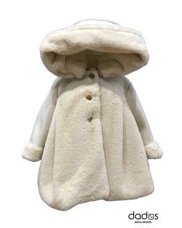 Marta y Paula abrigo bebé pelo beige
