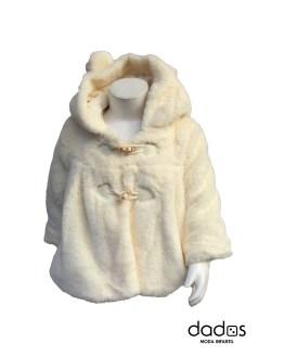 Dolce Petit abrigo pelo bebé beige