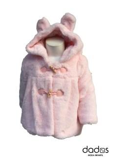 Dolce Petit abrigo pelo bebé rosa