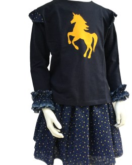 Mon Petit Bonbon conjunto caballo y estrellas