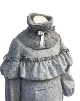 Para Sofía colección Esmeralda vestido gris detalle tejido