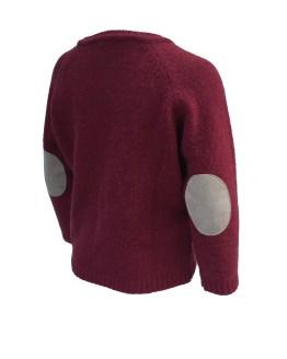 Ancar jersey rubí con coderas trasera