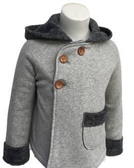 Detalle Baby Yiro abrigo gris