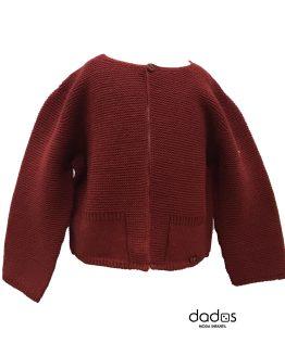 Dolce Petit chaqueta bebé granate