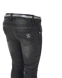 Elsy pantalón tejano gris trasera
